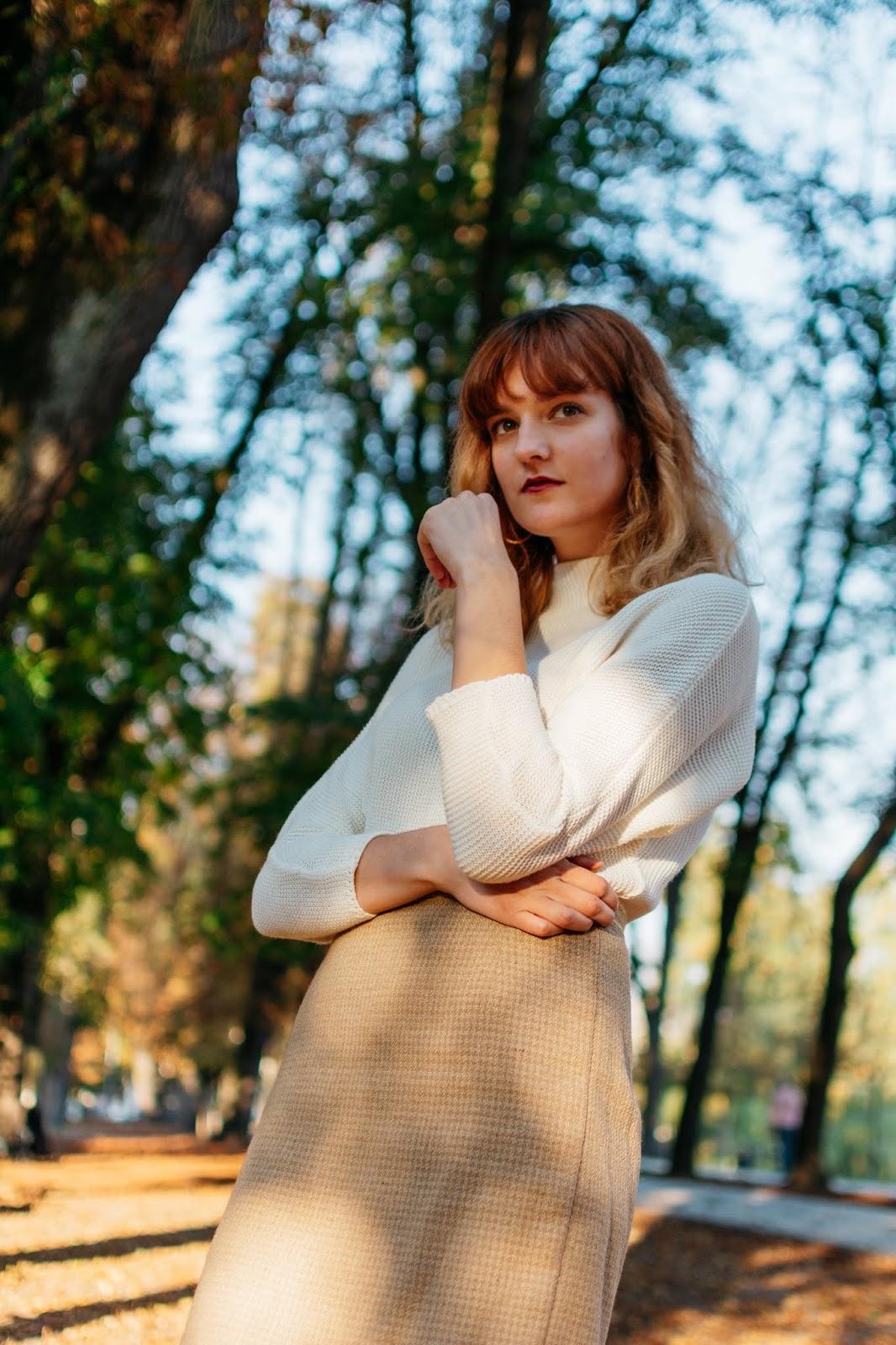Femme Luxe white knit jumper moonshinefaerie