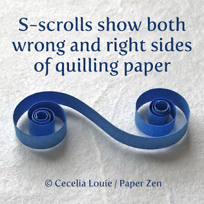 How to find the Right and Wrong Sides of Quilling Paper - S Scroll