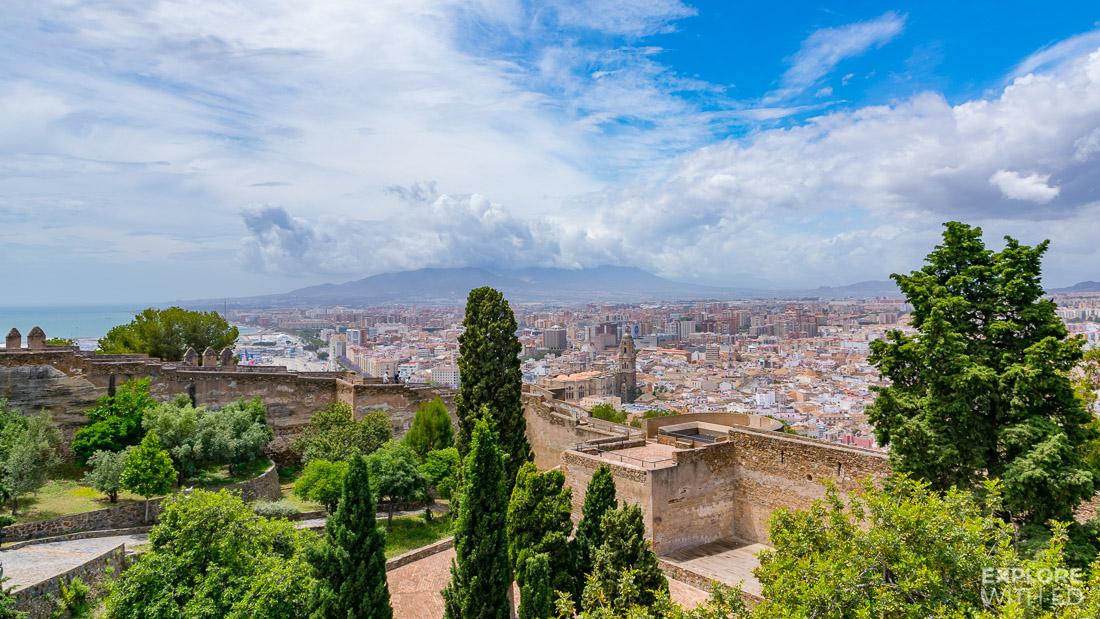 Gibralfaro fortress views over Malaga