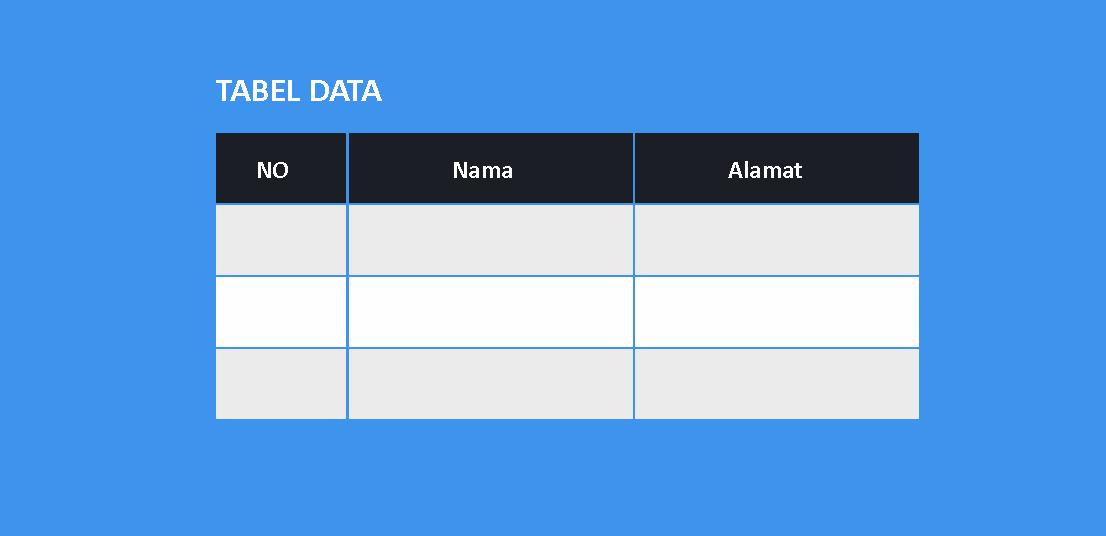 cara membuat tabel didalam postingan blog