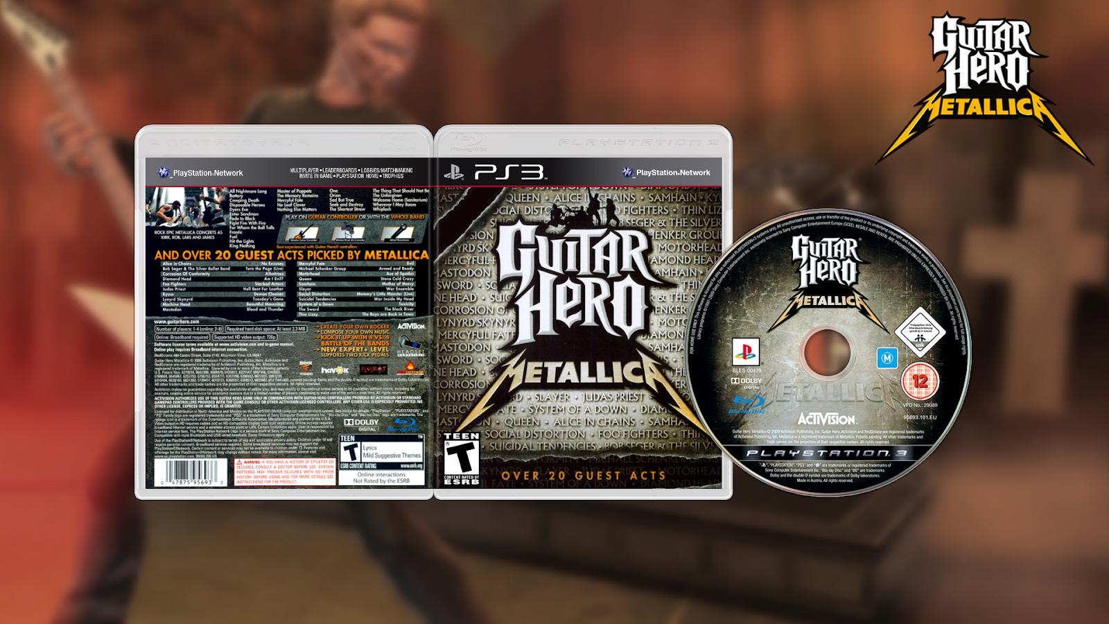 Games Gamers Guitar Hero Metallica Ps3 Download