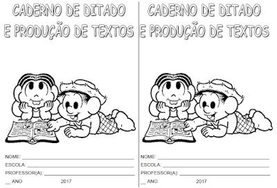 Capa de caderno de Produção de Textos