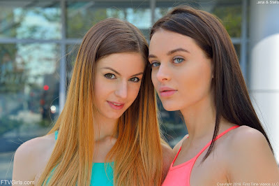 FTVGirls Lana Rhoades Stella Cox Boobs In Public Picture Set