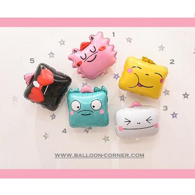 Balon Foil Kotak Ekspresi / Foil Emoji Korea