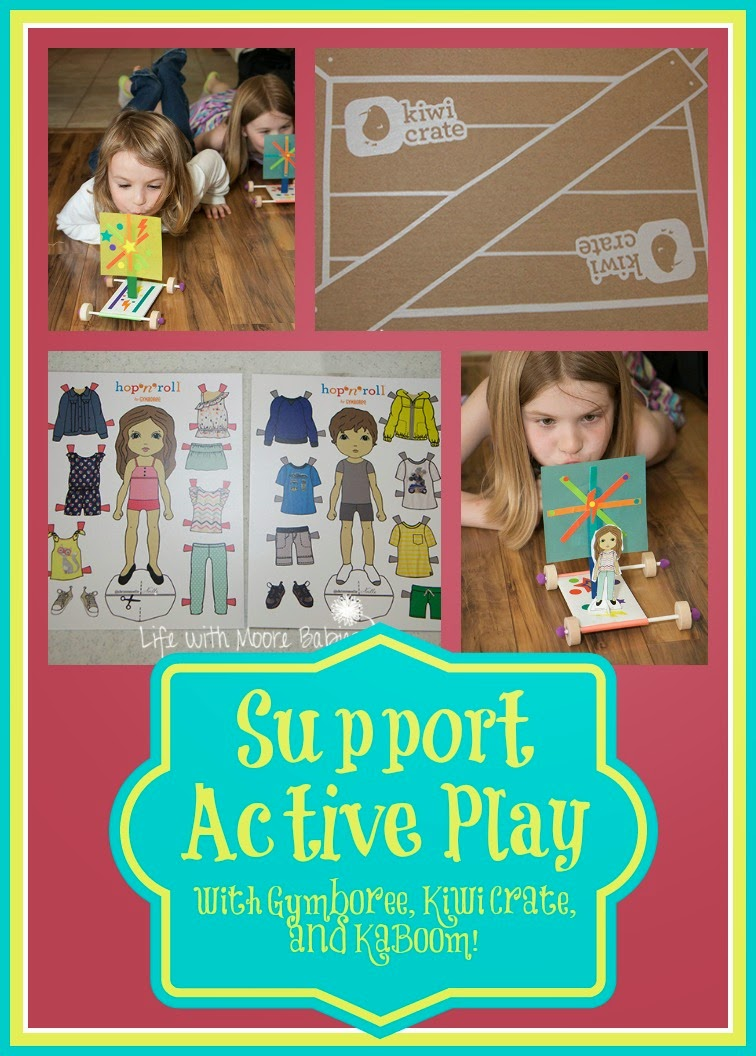Support Active Play with Gymboree, Kiwi Crate and KaBoom!