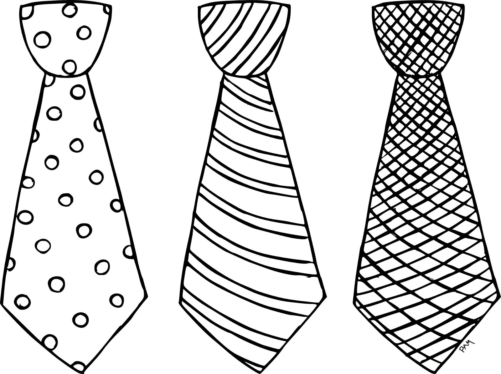 Dibujos De Corbatas Para Imprimir Y Colorear