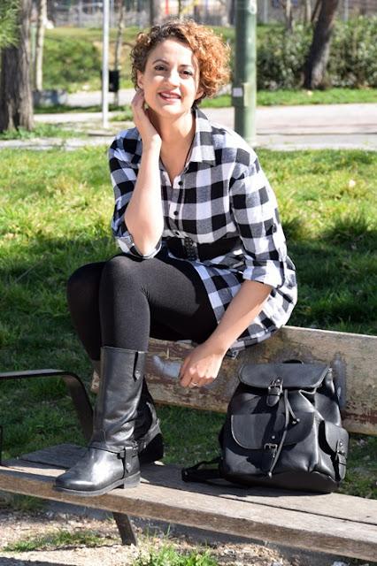 Outfit-Vestido-Camisero-cuadros-7