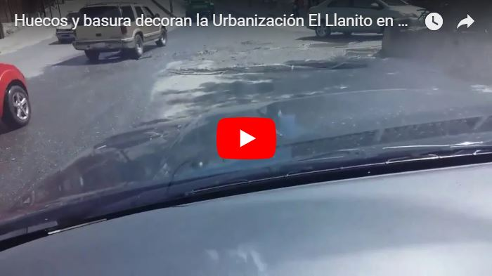 Huecos y basura decoran la Urbanización El Llanito en Caracas