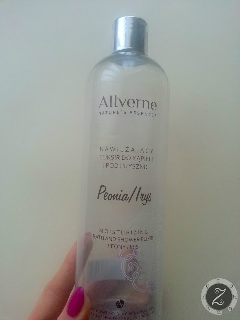 Allverne, nawilżający eliksir do kąpieli i pod prysznic, peonia/irys