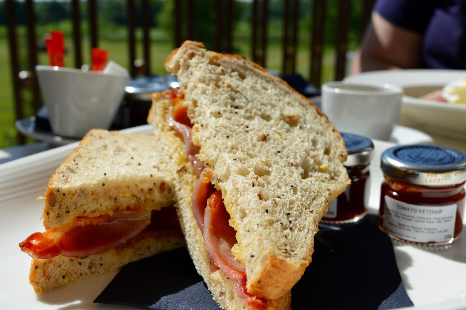 Rockliffe Hall midweek spa break review - bacon sandwich in brasserie
