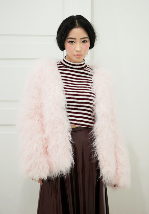 Basic Boxy Fur Jacket