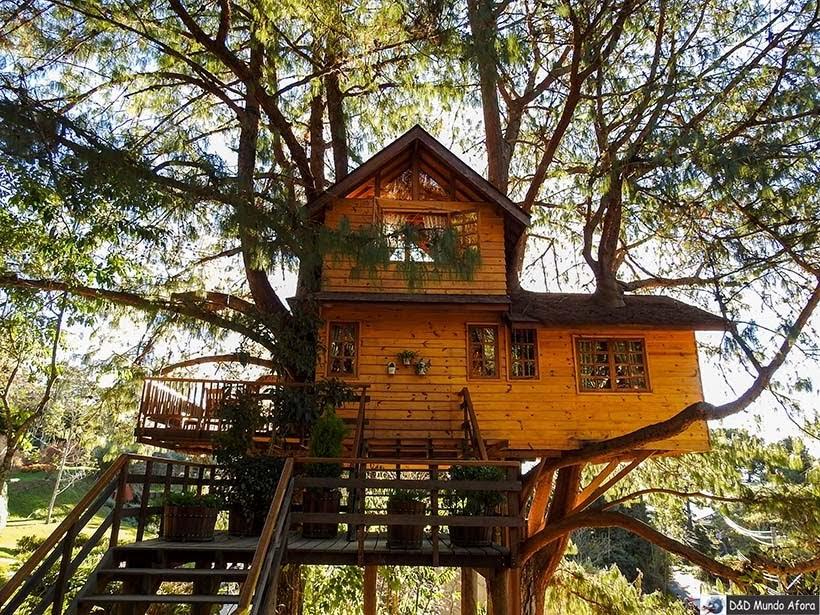 Casa na árvore no Parque Amantikir: os jardins que falam em Campos do Jordão