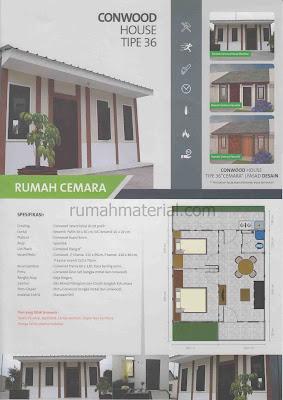 CONWOOD HOUSE tipe 36 Rumah Cemara