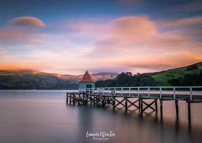 Akaroa, jetty, wharf, Christchurch, Canterbury, sunrise