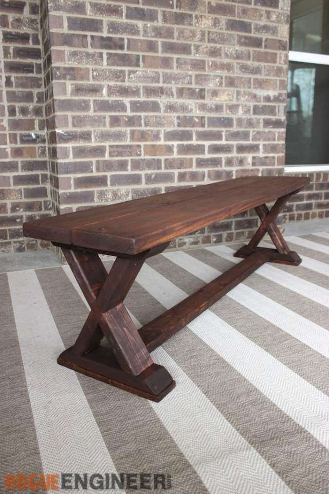 That's My Letter: DIY Outdoor Benches with Free Plans