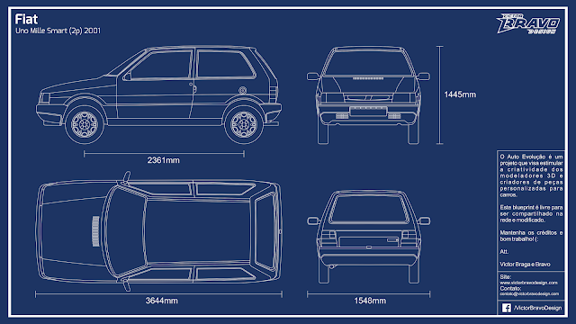 Imagem do Fiat Uno Mille Smart (2p) 2001 Blueprint