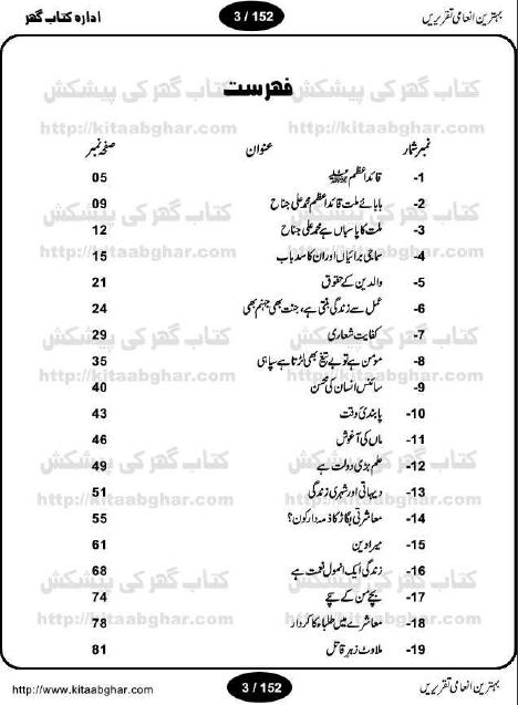 Behtareen Inami Taqreerain Pdf Urdu Book Download EASILY