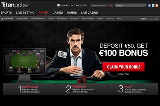 Titan Poker Landing Page