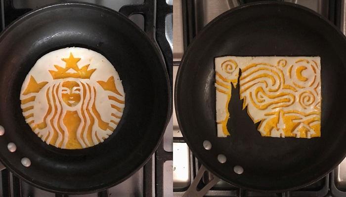 10 Foto Seni Makanan yang Terbuat Dari Telur Mata Sapi