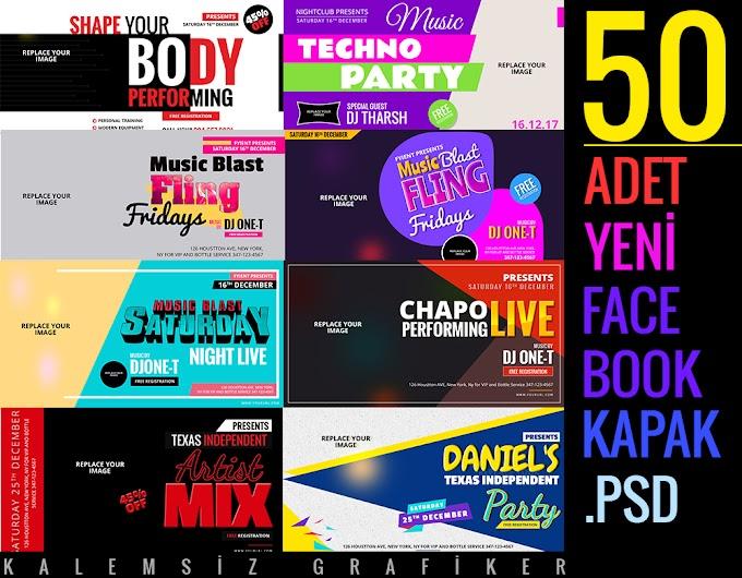 50 Adet Yeni Facebook Kapak PSD