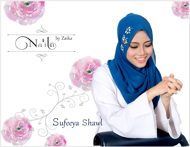 Na'ila Shawl By Zaika  Sufeeya Shawl