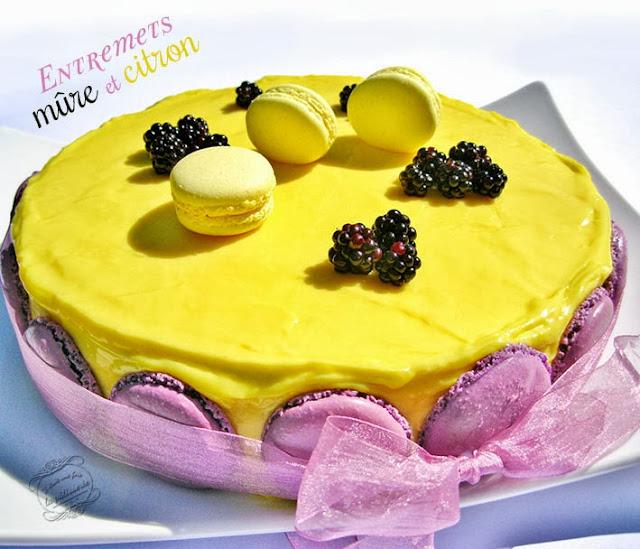 dessert : entremets mures et citron