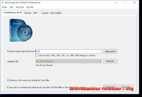 WinToFlash Professional v1 2 0003 Multilenguaje (Español), Instala
