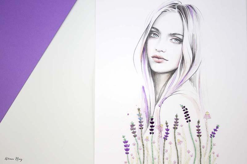 Ilustración bordada a mano