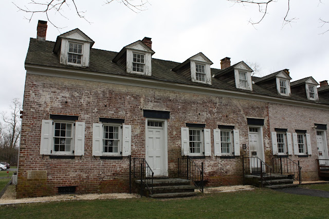 Employee row houses at Allaire Historic Village an industrial village in New Jersey