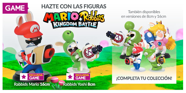 GAME contará con figuras exclusivas de Mario + Rabbids Kingdom Battle