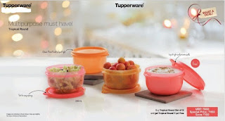 Tupperware tropical round