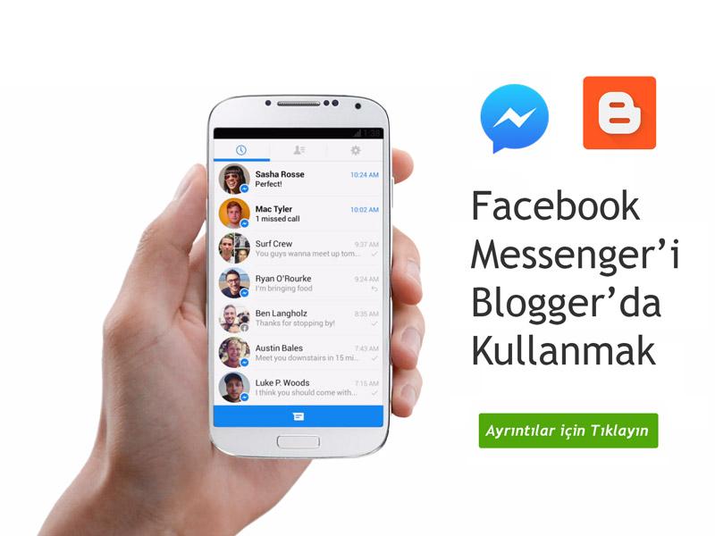 Facebook Messenger'ı Blogger'da Kullanma