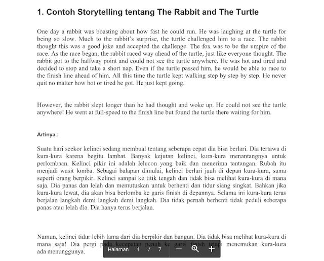 Contoh Storytelling Bahasa Inggris