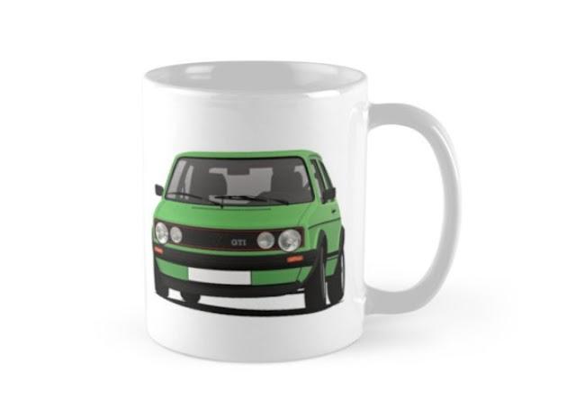 VW Golf GTI - coffee mug - white