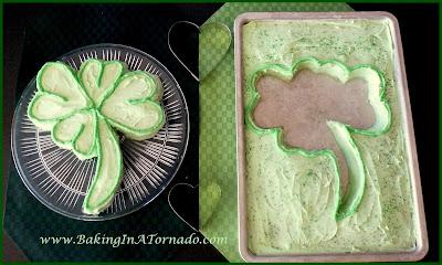 Creme de Menthe Shamrock Cake | www.BakingInATornado.com | #recipe #cake