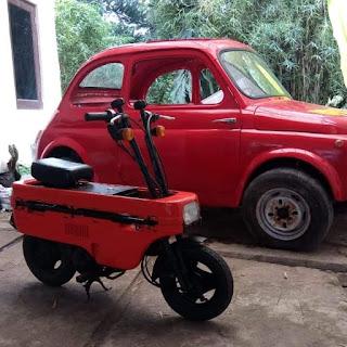 Dijual Motor Unik Motocompo 50cc 1983 No Paper