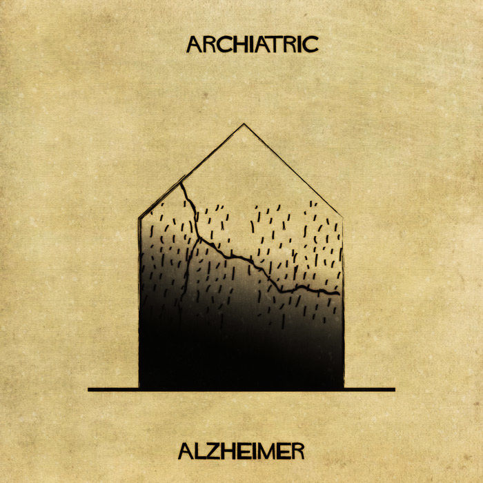 16 Mental Disorders Illustrated Through Architecture - Alzheimer