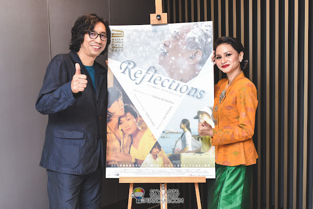 "Director Isao Yukisada and actress Sharifah Amani made a special appearance at the Malaysian premiere of ""Asian Three-Fold Mirror 2016: Reflections"" at GSC Mid Valley"