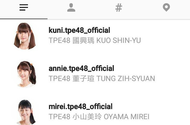 Akun Instagram TPE48 Members official account