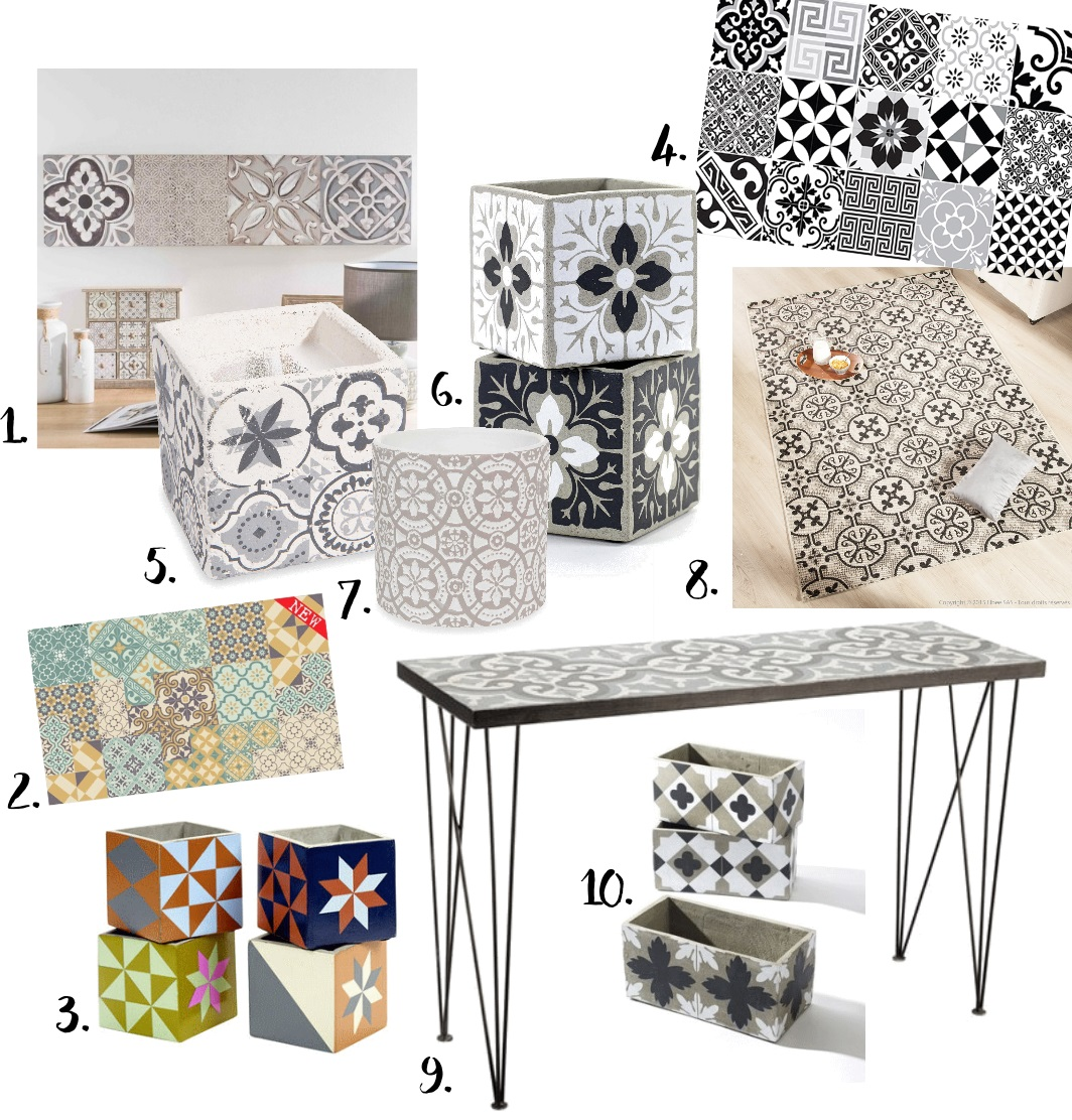 D co tendance carreaux de ciment inspirations et wishlist pa - Cache pot maison du monde ...