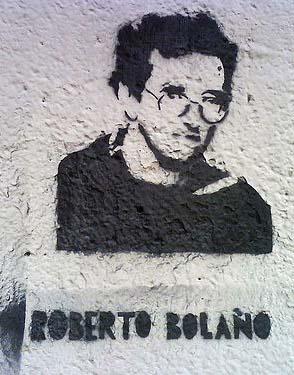 Roberto Bolaño en una fachada