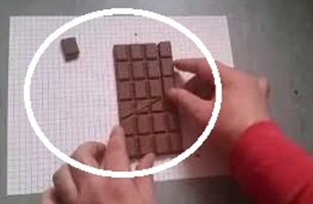 How to separate a cube of chocolate to remain the same