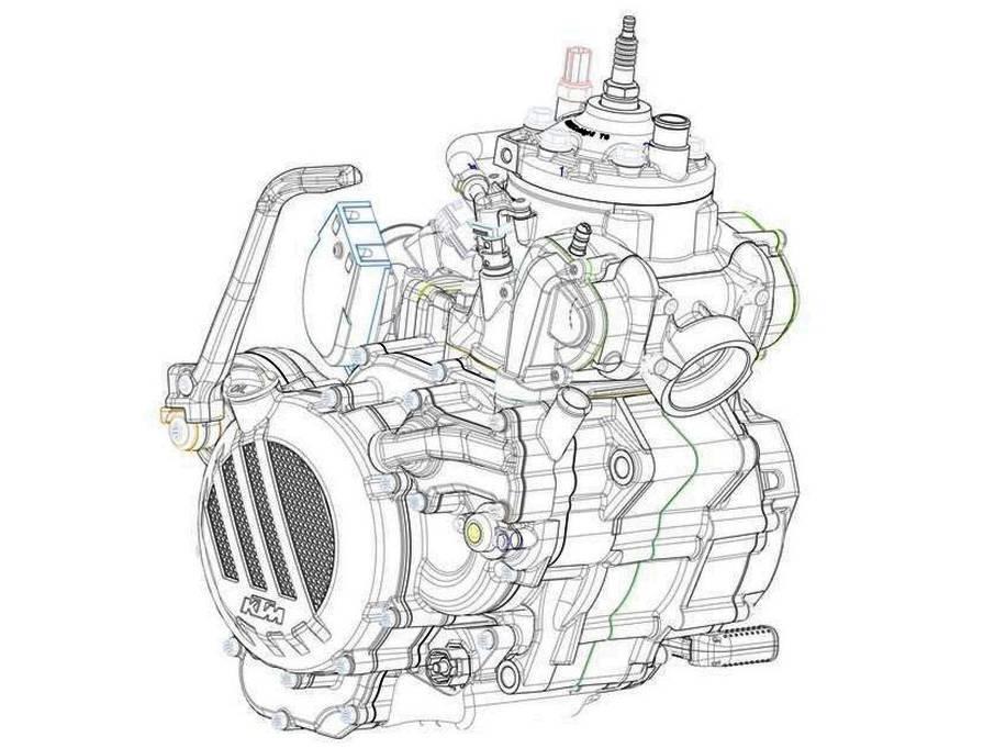 KTM memperkenalkan mesin 2 Tak dengan teknologi Injeksi yang lolos EURO 4 !