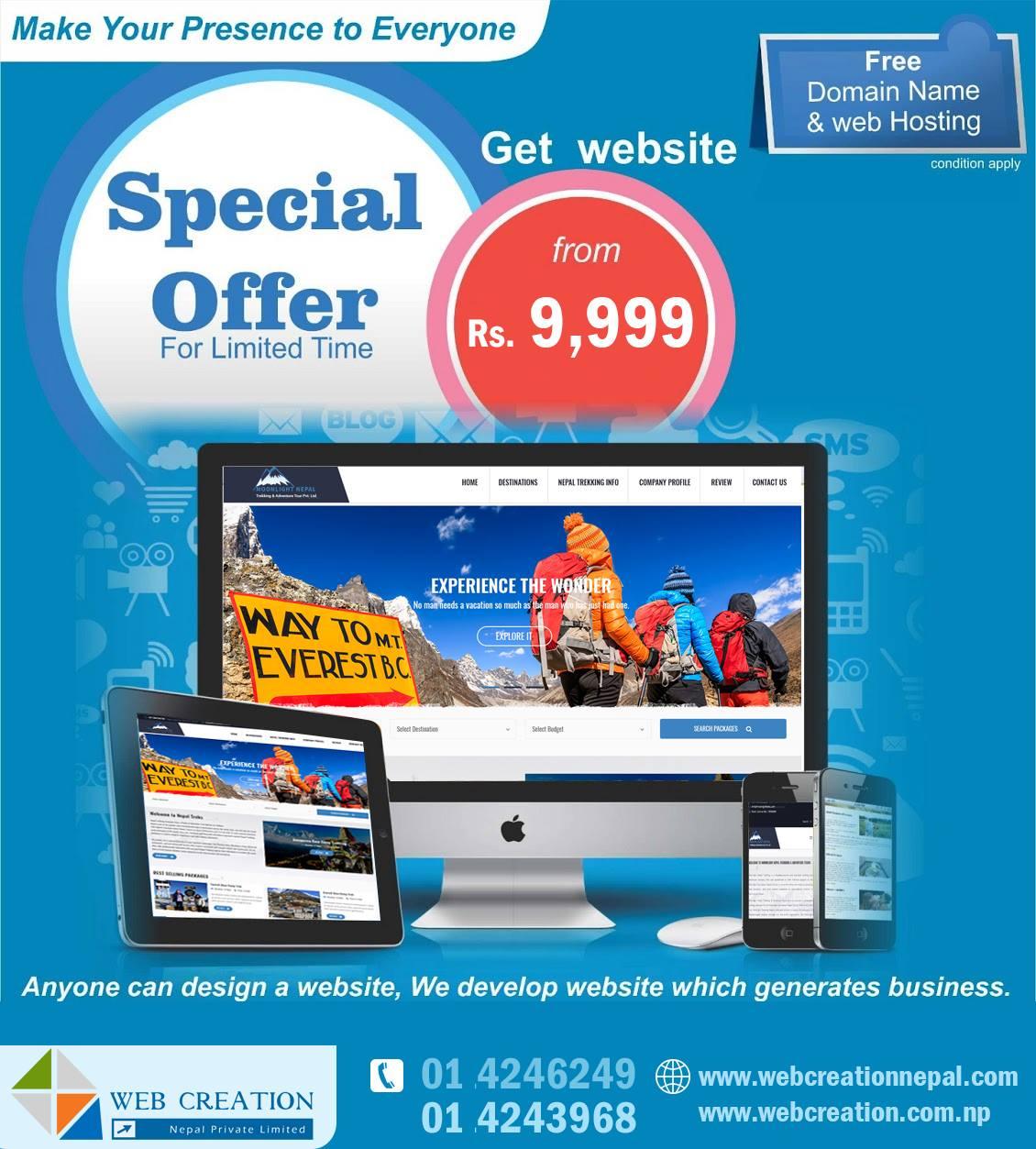 Web Designing in Nepal   Web Creation Nepal - Web Development Web