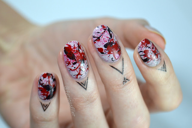 splatter splash halloween blood cuticle tattoos egdy furiousfiler