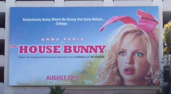 House Bunny movie billboard