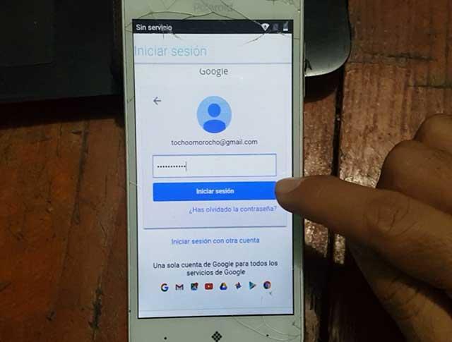 iniciar sesión con una cuenta de Google