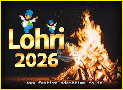 2026 Lohri Festival Date & Time, 2026 Lohri Calendar