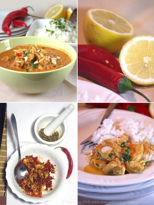 łagodne curry tikka masala z kurczakiem