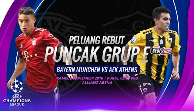 PREDIKSI Bayern Munich vs AEK Athens: Rebut Puncak Grup E Masih Ada Peluang